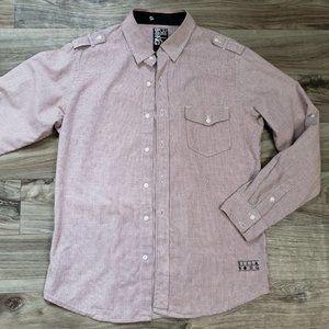 BILLABONG Plaid Long Sleeve Button Down Shirt
